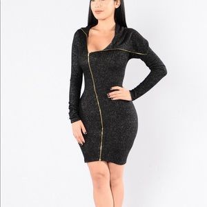 New Fashion nova black sweater dress